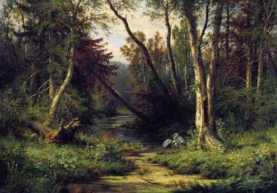 Лесной пейзаж.