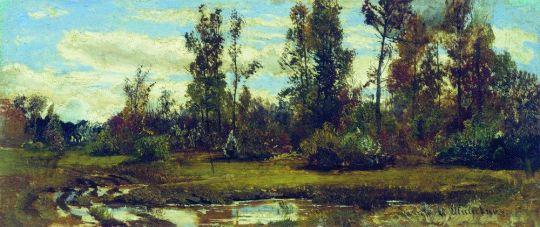 Озеро в лесу