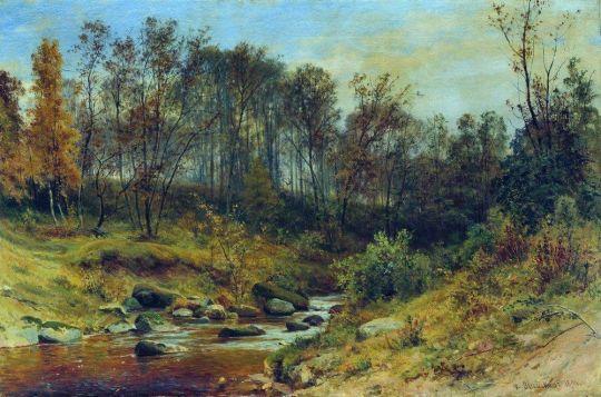 Ручей в лесу.