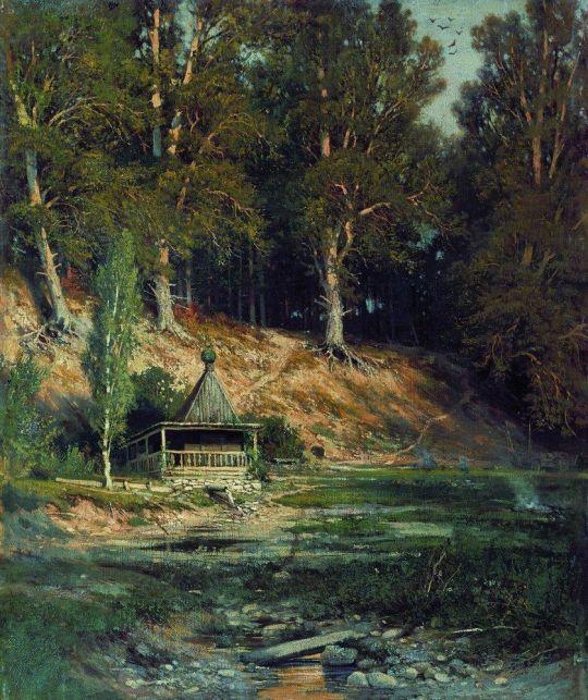 Часовня в лесу.