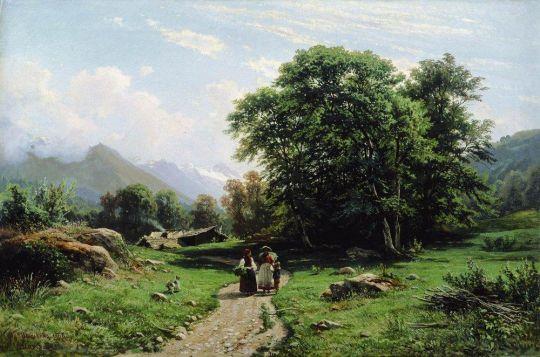 Швейцарскй пейзаж.