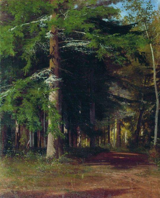 Этюд к картине Рубка леса.
