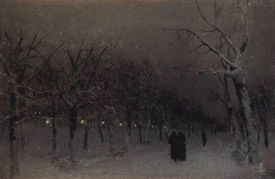 Бульвар зимой.