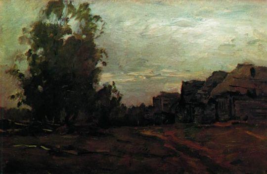 Деревня. Серый день