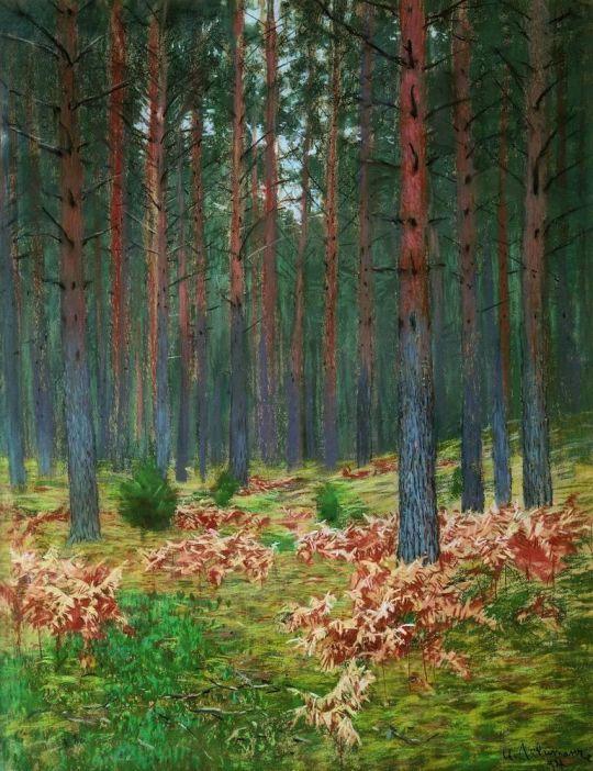 Пейзаж с папоротником.