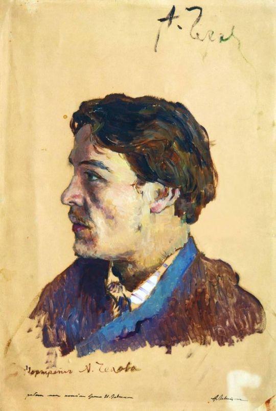 Портрет писателя Антона Павловича Чехова.