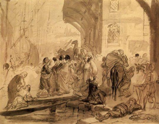 Гавань в Константинополе.