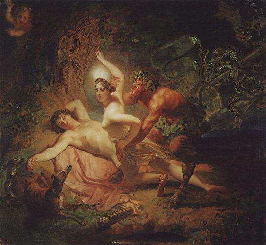 Диана, Эндимион и Сатир.