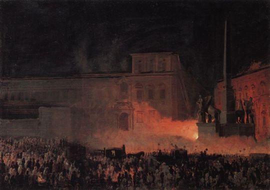 Политическая демонстрация в Риме в