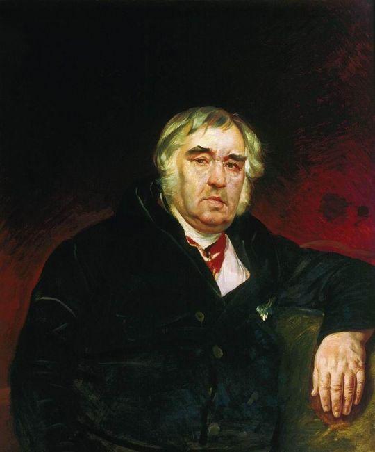 Портрет баснописца И.А.Крылова.
