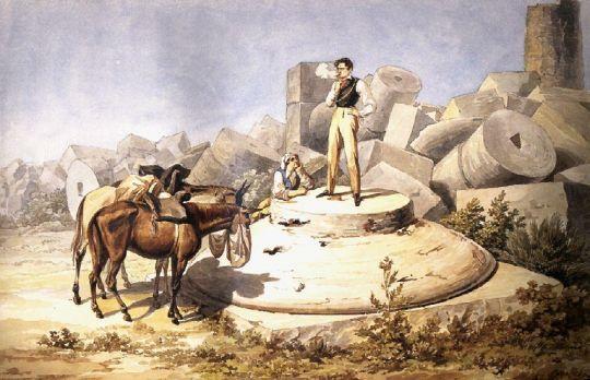 Портрет В.А.Перовского на капители колонны.