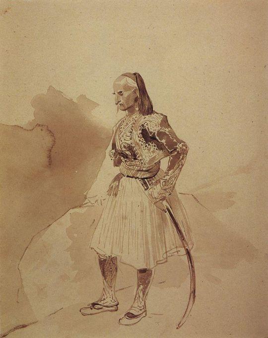 Портрет греческого инсургента Теодора Колокотрони.