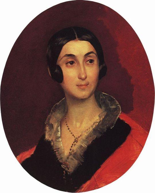 Портрет Е.И.Тон, жены художника К.А.Тона.
