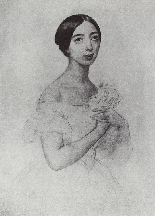 Портрет певицы Полины Виардо Гарсия.