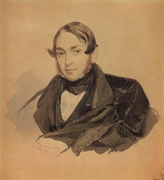 Портрет С.А.Соболевского.