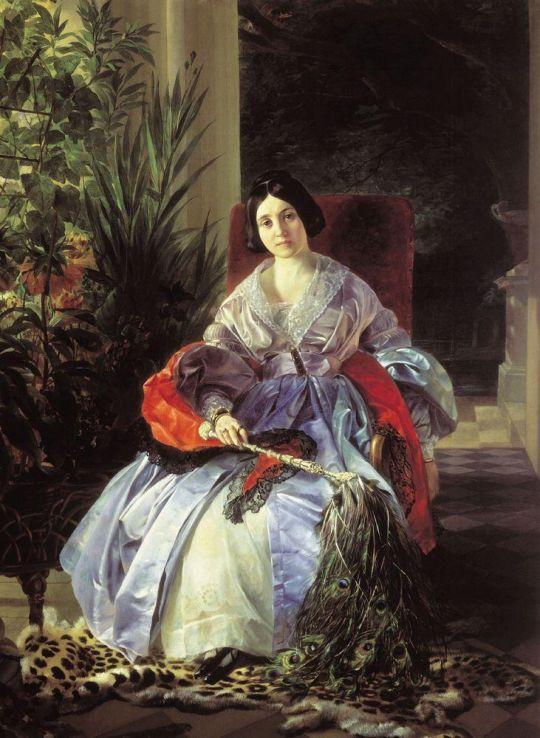 Портрет светлейшей княгини Елизаветы Павловны Салтыковой.