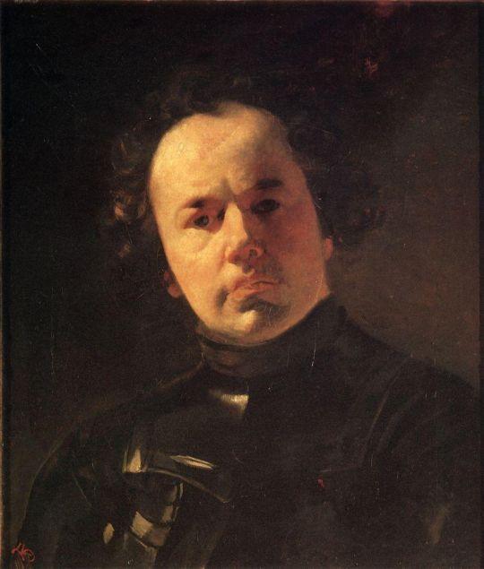Портрет художника Я.Ф.Яненко в латах.