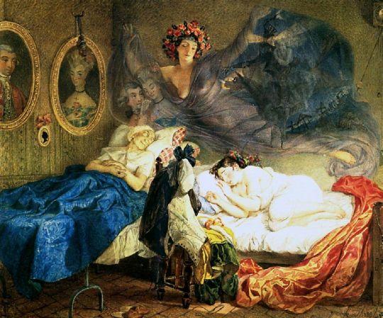 Сон бабушки и внучки.