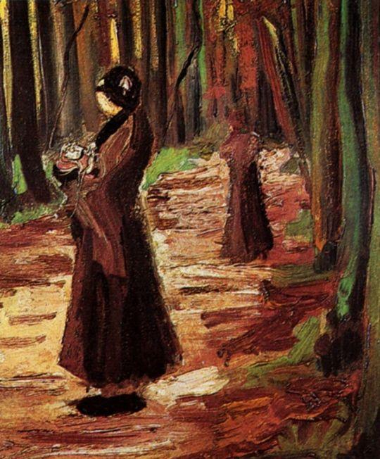 Две женщины в лесу