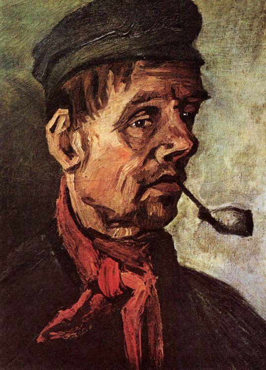 Портрет крестьянина с трубкой
