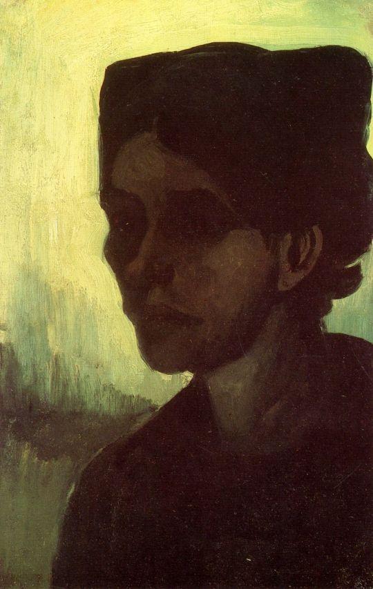 Портрет молодой крестьянки в темном чепце