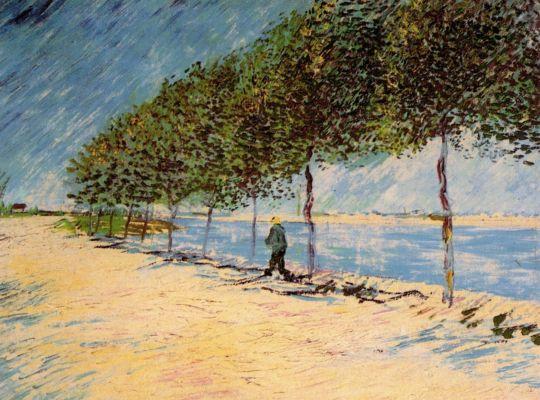Прогулка по набережной Сены около Аньер