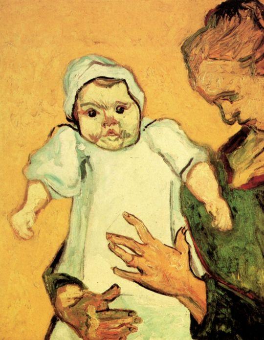 Мамаша Рулен с младенцем