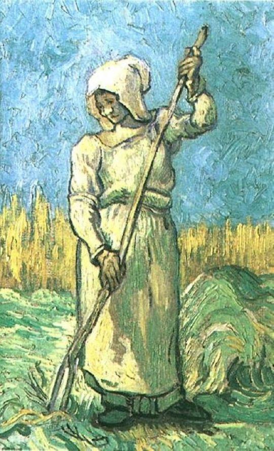 Крестьянка с граблями