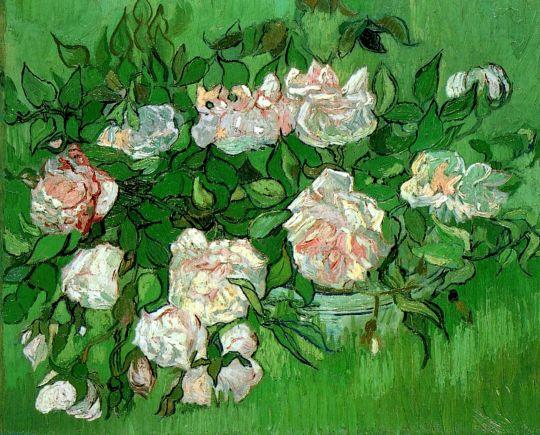 Натюрморт: розовые розы