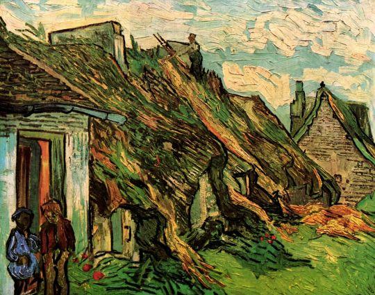 Песчаниковые домики с соломенными крышами в Шапонвале