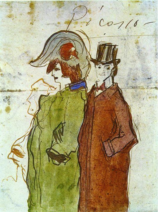 Пикассо с партнершей.