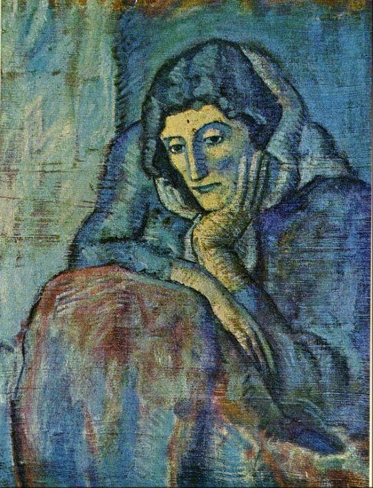 Дама в голубом.