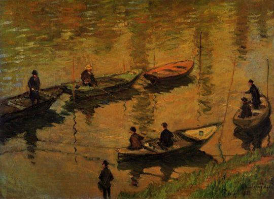 Рыболовы на Сене на Пуасси