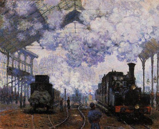 Прибытие на станцию Сен-Лазар
