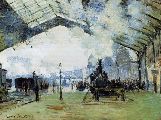 Прибытие поезда в Нормандии, Вокзал Сен-Лазар