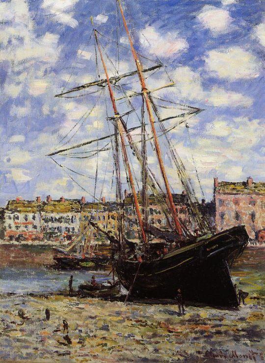 Лодки во время отлива в Фекамп