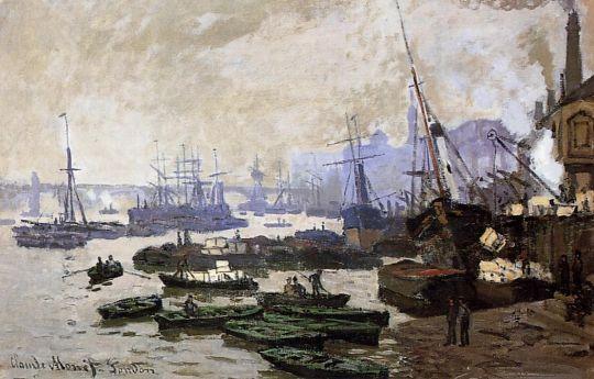 Лодки в порту Лондон