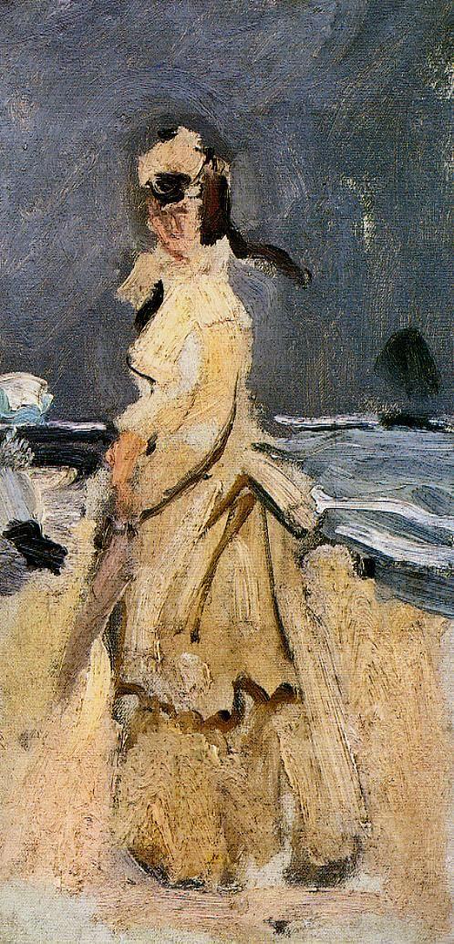 Камилла на пляже в Трувиль