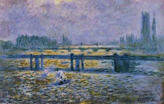Черинг-кросс мост, пасмурная погода