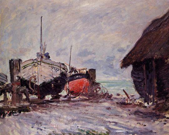Рыбацкие лодки в Этрета