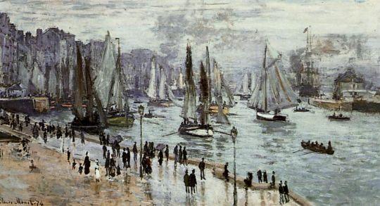 Рыбацкие лодки на выходе из порта Гавр