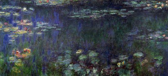 Зелёное отражение (левая половина)
