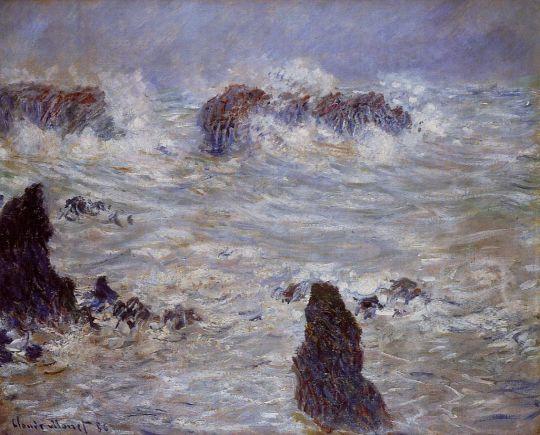 Буря на побережье Бель-Иль
