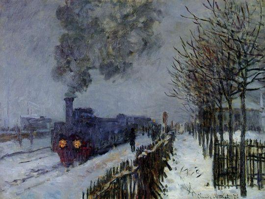 Поезд в снегу, тлокомотив