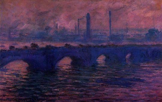Мост Ватерлоо, туманная погода