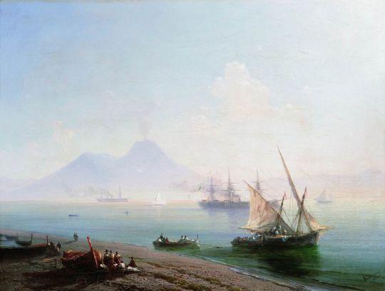 Берег Неаполя. Вид Везувия