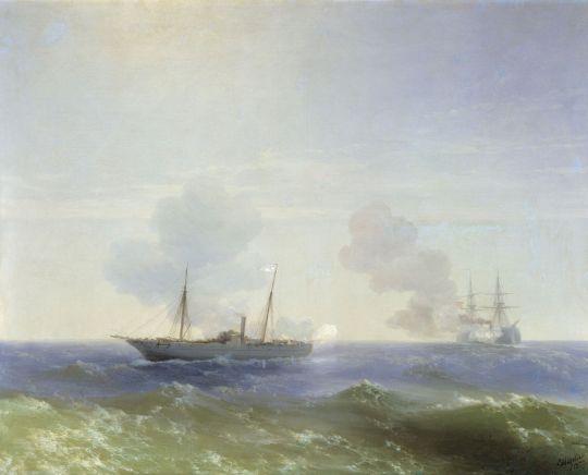 Бой парохода Веста с турецким броненосцем Фехти-Буленд в Чёрном море 11 июля 1877 года