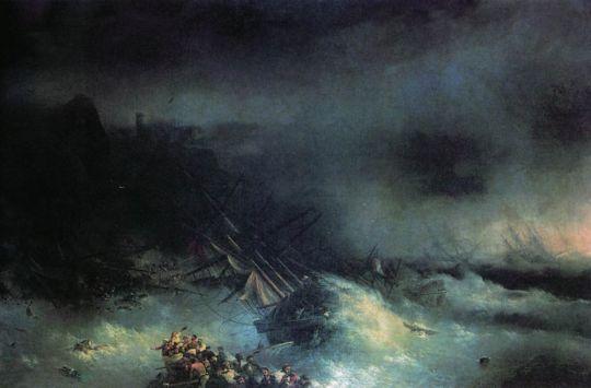 Буря. Крушение иностранного корабля (Эпизод Крымской войны)