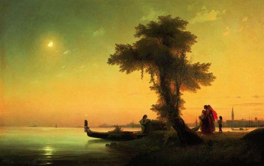 Вид на венецианскую лагуну