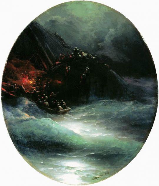 Гибель корабля (Крушение купеческого судна в открытом море)